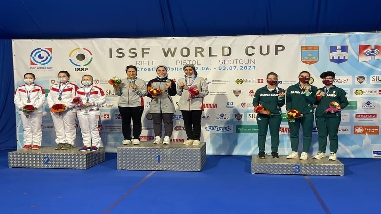 مدال طلا جام جهانی کرواسی برای تیم ملی تفنگ زنان