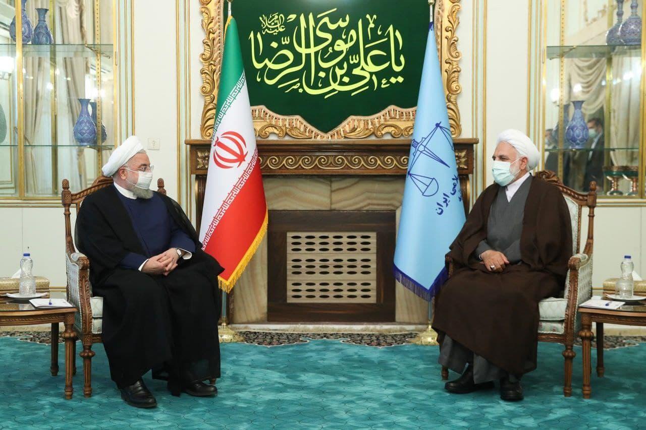 روحانی با رئیس جدید قوه قضائیه دیدار کرد