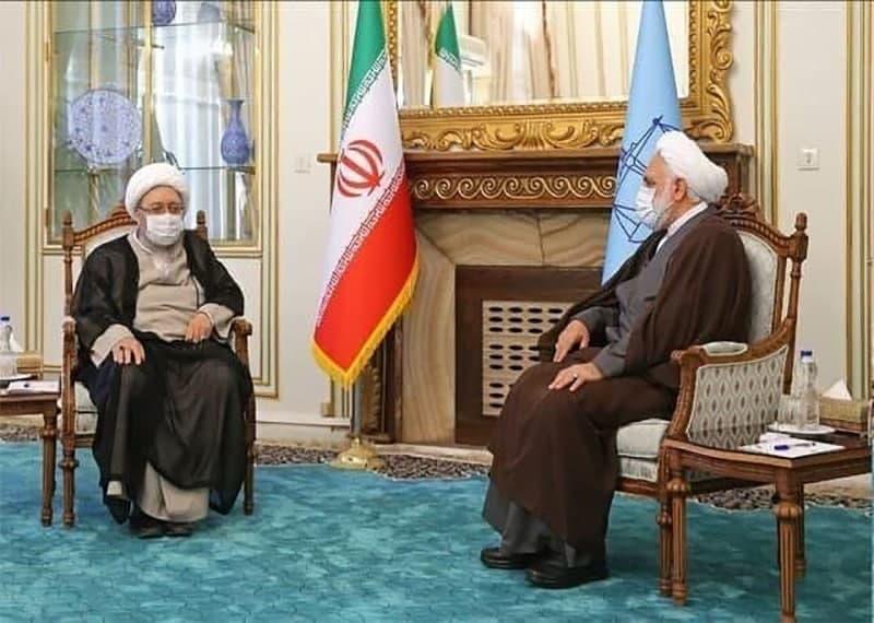 دیدار آملی لاریجانی با رئیس قوه قضاییه