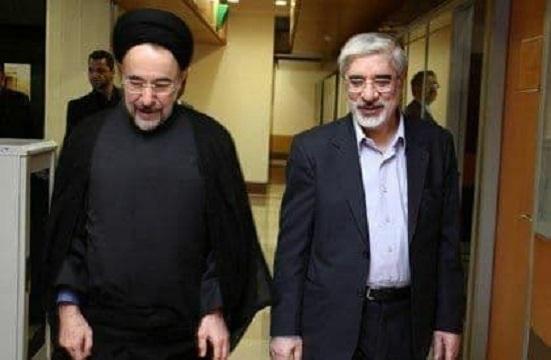 تماس میرحسین موسوی و زهرا رهنورد از حصر با سیدمحمد خاتمی