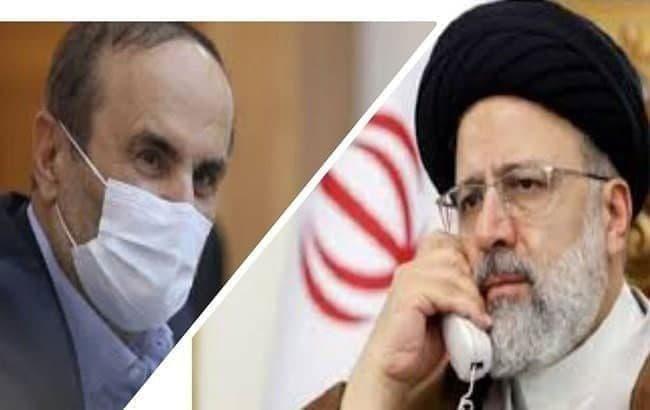تماس تلفنی رئیسی با نماینده ولی فقیه و استاندار خوزستان