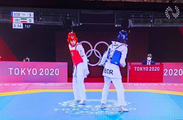 رقابتهای تکواندوی المپیک/ ناهید کیانی مغلوب علیزاده شد