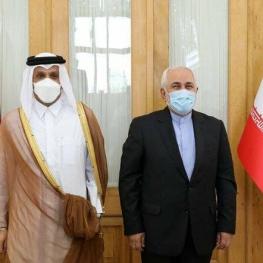 دیدار و گفتوگوی ظریف با وزیر خارجه قطر