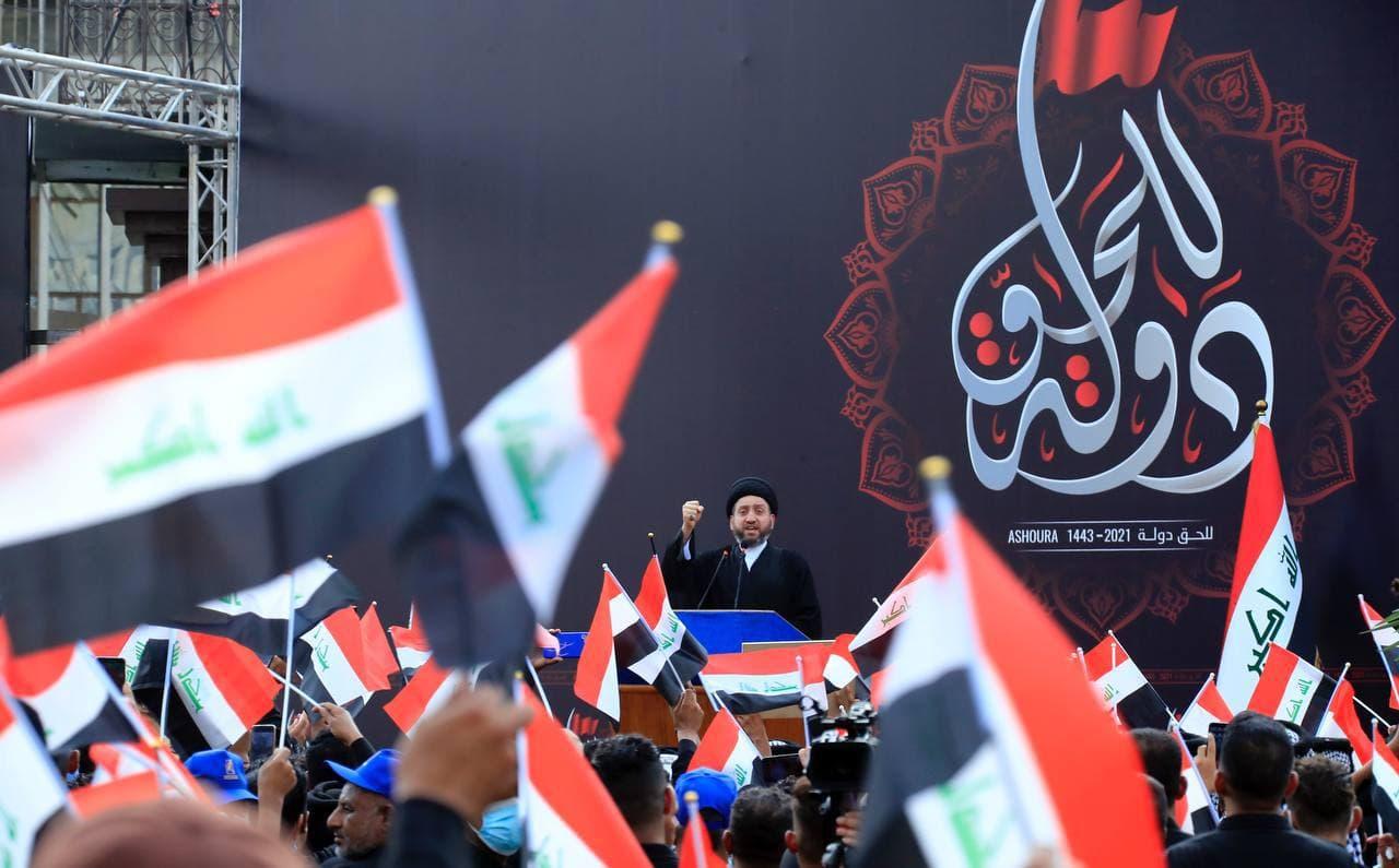 حمایت سید عمار حکیم از حشد الشعبی و تاکید بر خروج نظامیان آمریکایی از خاک عراق