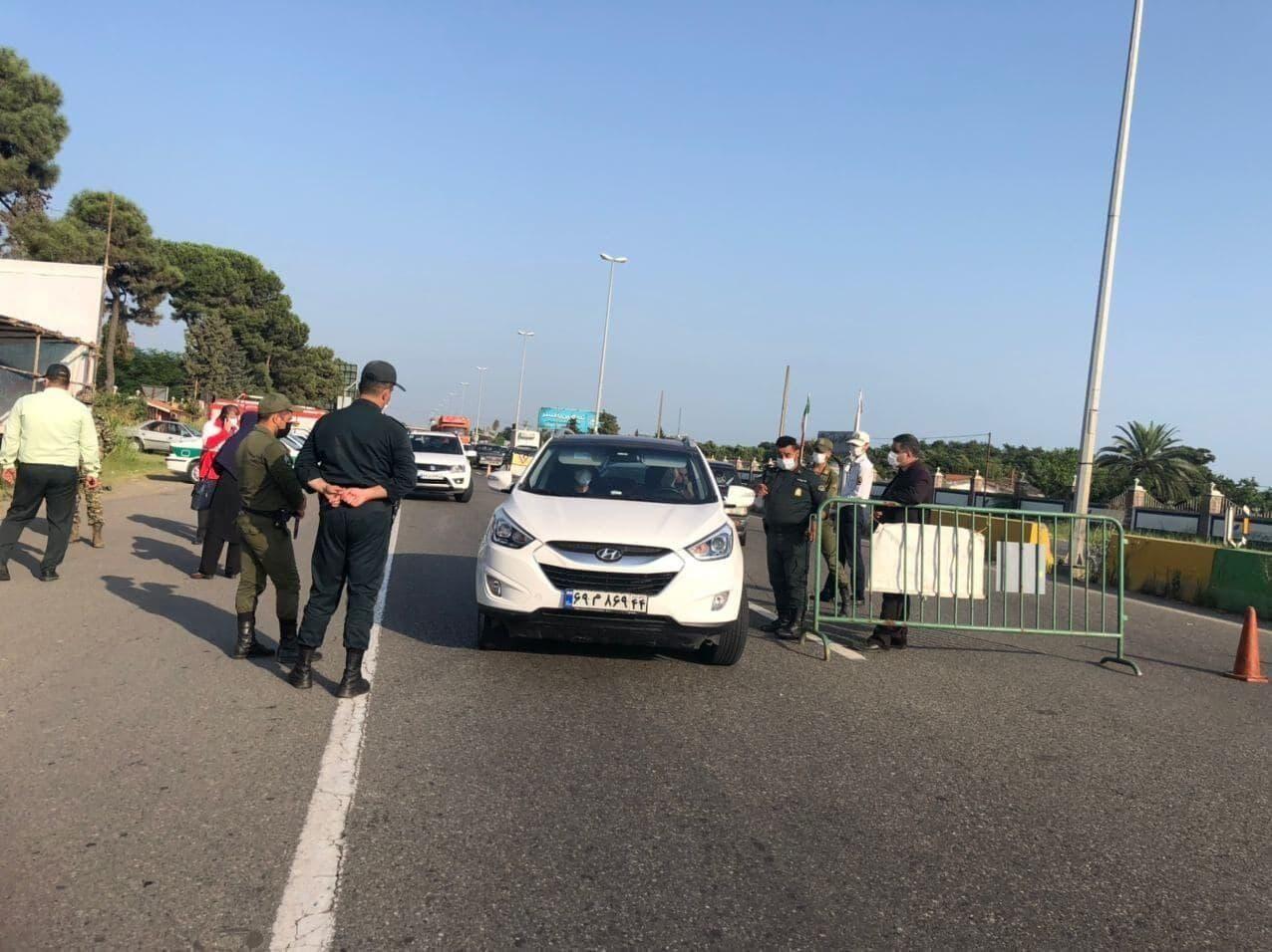 ورودی مازندران از سمت گیلان مسدود شد