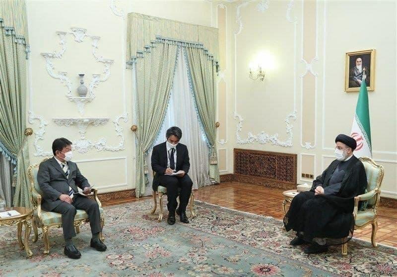 دیدار وزیر امور خارجه ژاپن با سید ابراهیم رئیسی، رئیس جمهور ایران