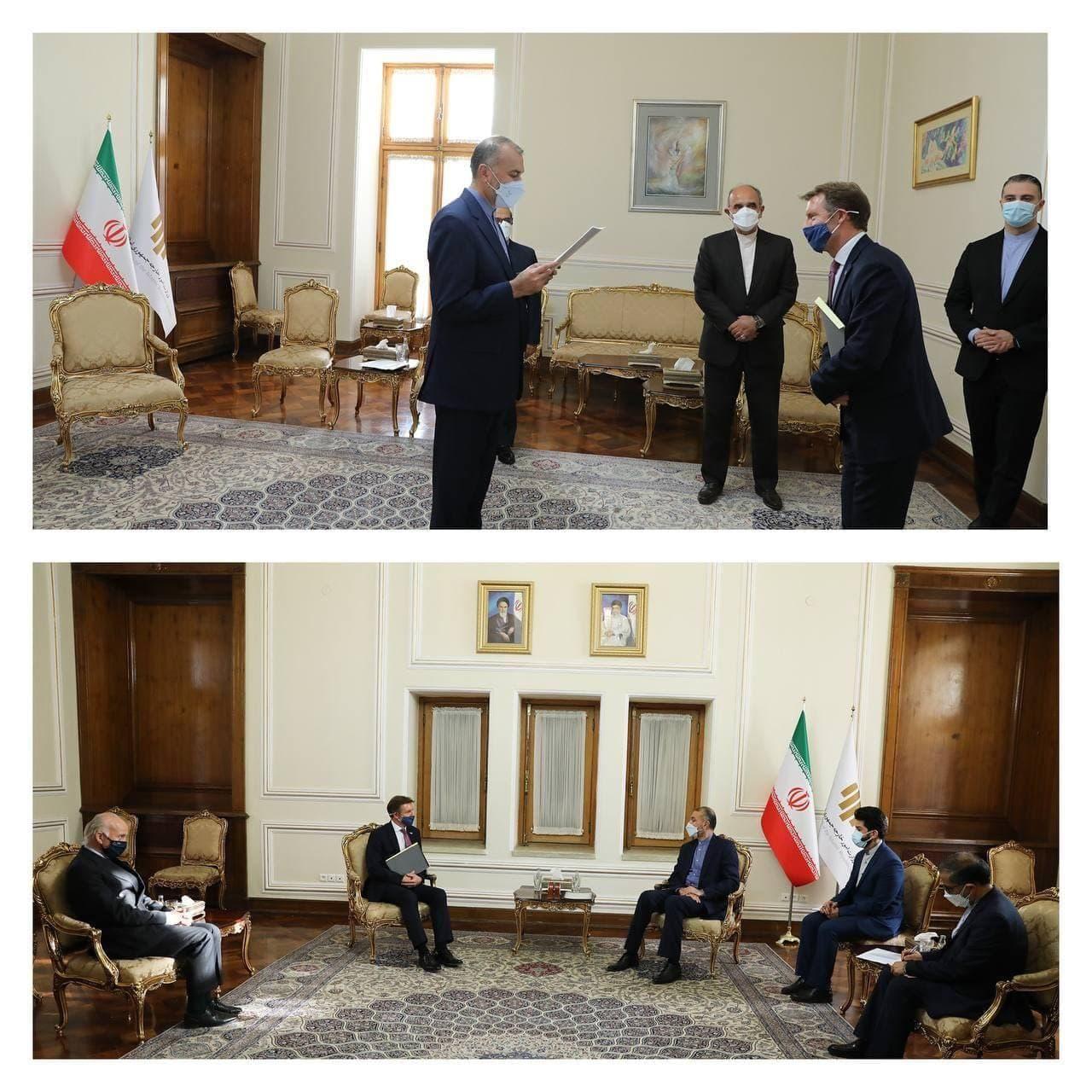 دیدار سفیر جدید بریتانیا با وزیر خارجه ایران