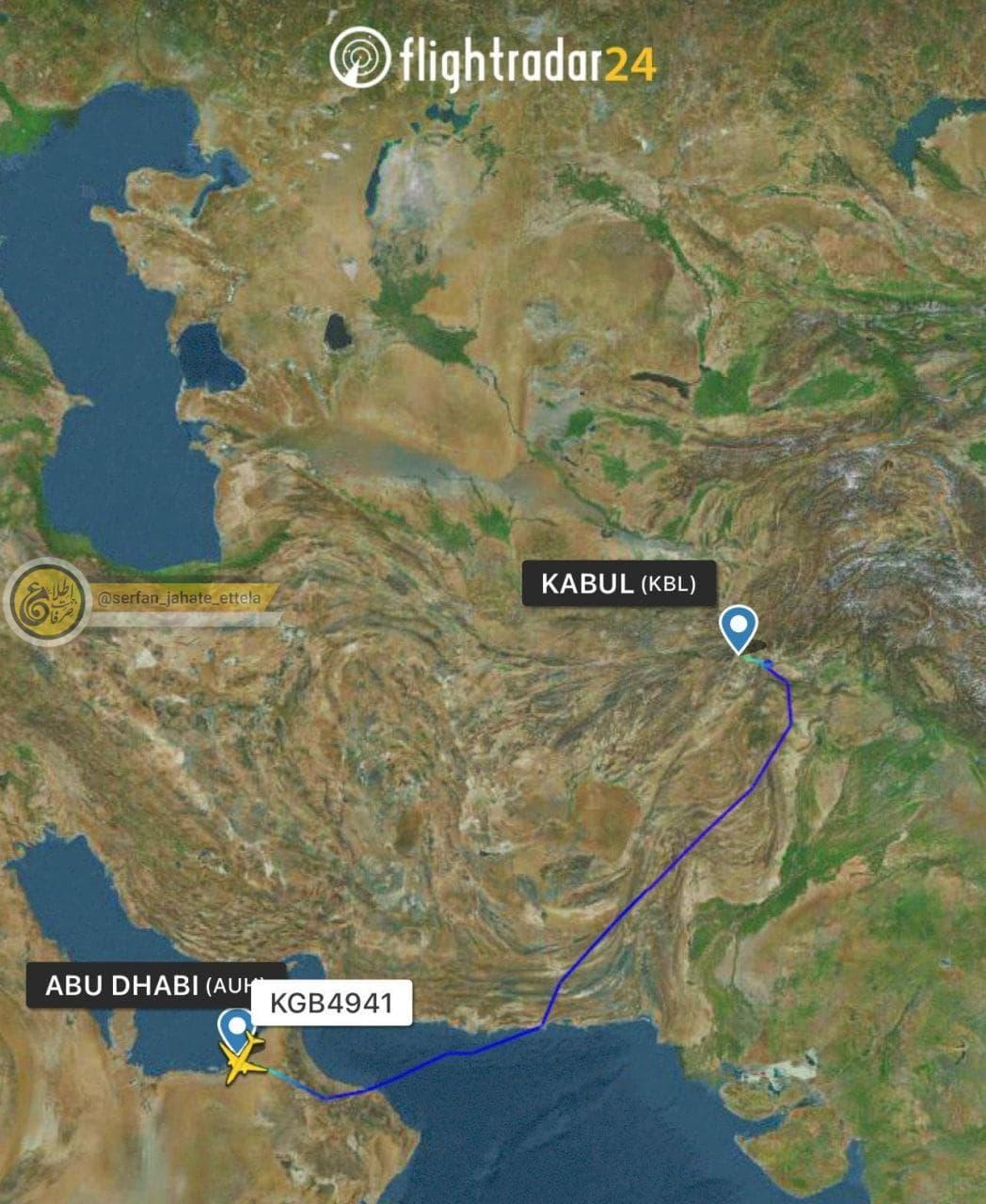 طالبان از ورود اولین هواپیمای امارات به کابل خبر داد