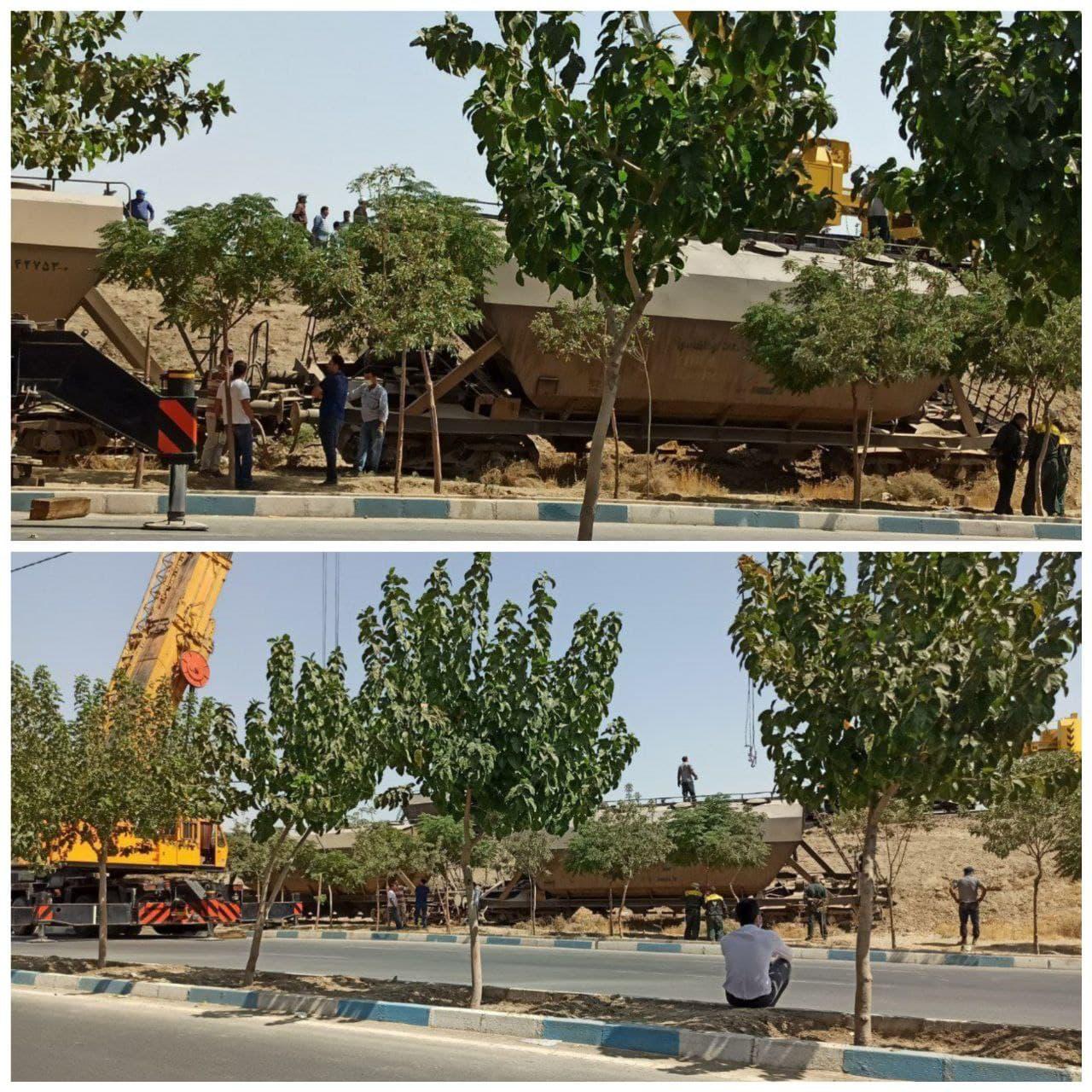 خروج قطار نفتکش از ریل خط تهران- تبریز در محدوده شهرقدس