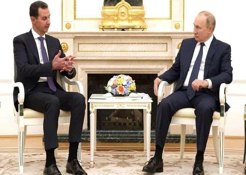 دیدار رؤسای جمهور روسیه و سوریه در مسکو