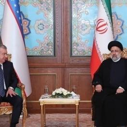 دیدار و گفتوگوی روسای جمهور ایران و ازبکستان در حاشیه اجلاس شانگهای