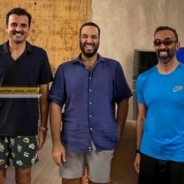 عکس مشترک محمدبن سلمان ، شیخ تمیم بن حمد و شیخ طحنون بن زاید