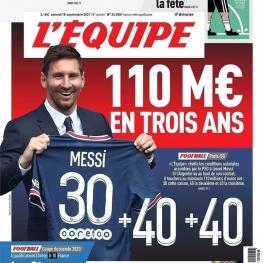 اکیپ دستمزد مسی در پاریس را لو داد