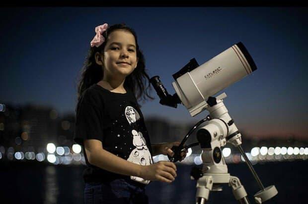 دختربچه ۸ ساله جوانترین ستاره شناس جهان شد!