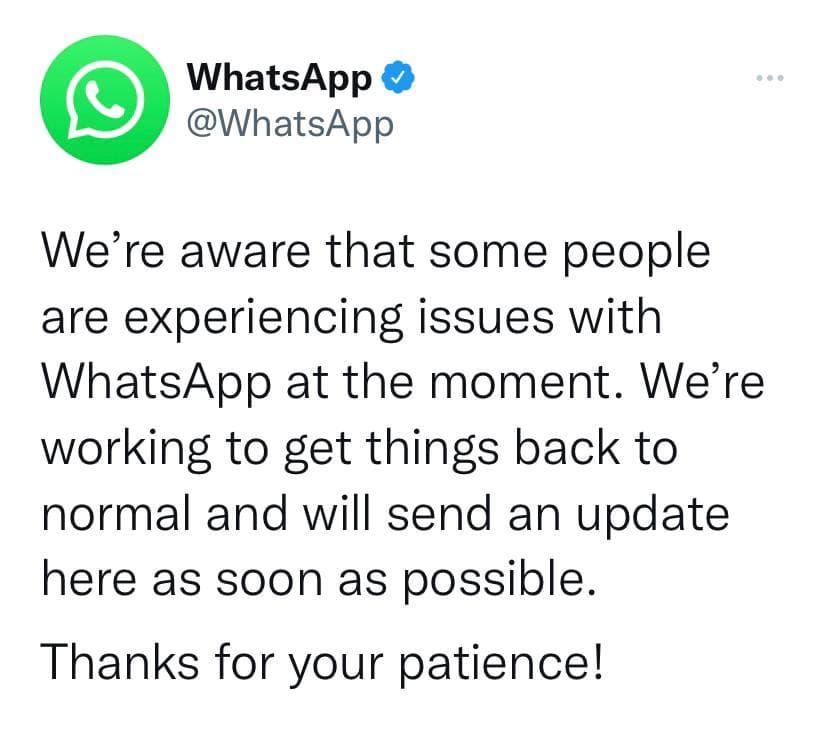واتس اپ: صبور باشید