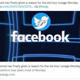 فیس بوک بالاخره دلیل ۶ ساعت قطعی جهانی را اعلام کرد