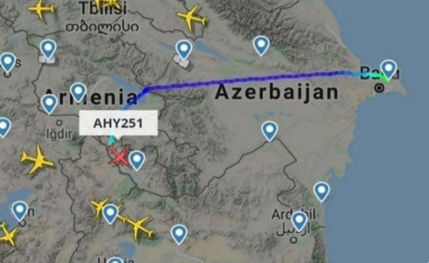حریم هوایی ارمنستان به روی هواپیماهای جمهوری آذربایجان باز شد