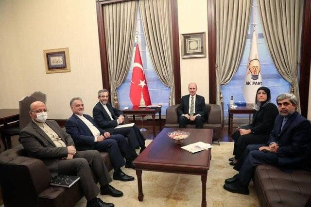 دیدار علی باقری با نایب رئیس حزب عدالت و توسعه ترکیه