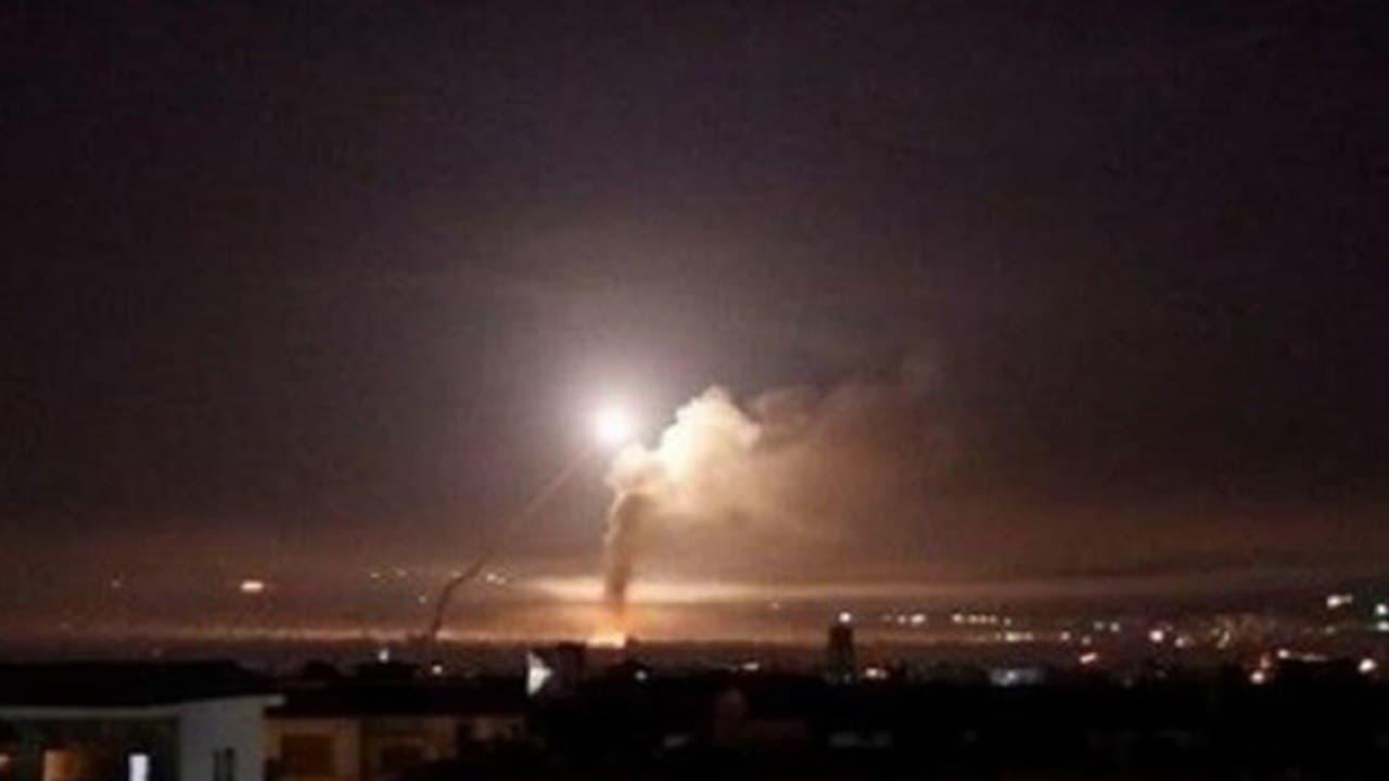 مقابله پدافند هوایی سوریه با حمله موشکی اسرائیل