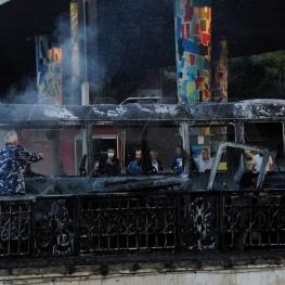 انفجار اتوبوس در دمشق تعدادی کشته و زخمی برجا گذاشت