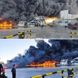 آتشسوزی شرکت طبیعت زرندیه در استان مرکزی