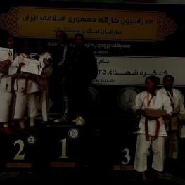 برگزاری مراسم اهدای مدال کاراته زنان در خاموشی