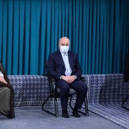 دیدار میهمانان کنفرانس وحدت اسلامى و جمعی از مسئولان نظام